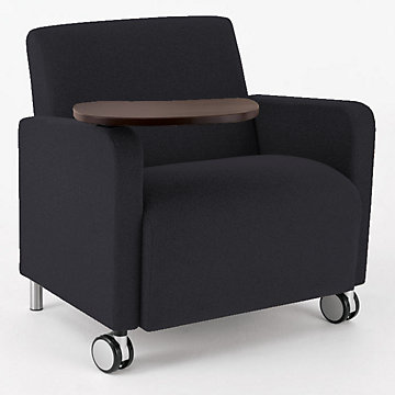 Ravenna Big & Tall Mobile Guest Chair with Tablet Arm, Q1631C8