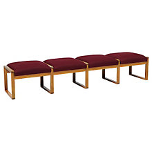 Fabric Four Seat Bench, LES-R4001B3