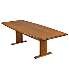 Solid Oak 6' Boat Shape Conference Table, 8802865