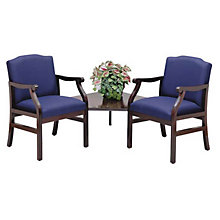 2 Guest Chairs with Connecting Corner Table, LES-M2221G5