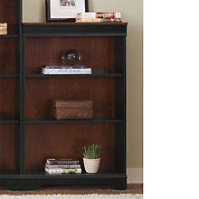 "St. Ives Three Shelf Two-Tone Bookcase - 48""H, LIE-260-HO3048-RTA"