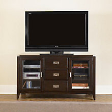 Harbor Town TV Stand with Drawers and Glass Door Storage, LIE-349-TV00