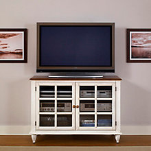 Low Country Media Console with Glass Doored Storage, LIE-79-TV46