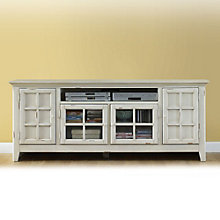 New Generation Antique White Widescreen TV Stand with Media Storage, LIE-840-TV00