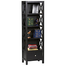 "Anna Four Shelf Bookcase with Drawer - 22""W x 72.25""H, 8805150"