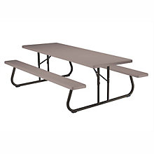 Plastic 8 ft Foldable Picnic Table, LIT-80123