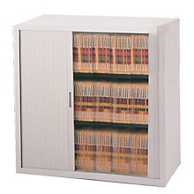 "Tambour Door File Cabinet - 3 Tier, 36""W, MAL-3836A3"