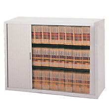 "Tambour Door File Cabinet - 3 Tier, 48""W, MAL-3848A3"