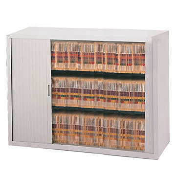 Tambour Door File Cabinet - 3 Tier, 48W, NBF-3848A3