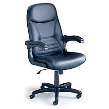 Comfort Pivot Arm Big and Tall Leather Executive Chair, MAL-6446AG-L