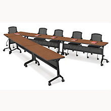 Flip Top Nesting V-Shape Training Table Set, 8801534
