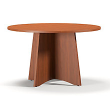 "Cherry Laminate Round Conference Table - 48"", MAL-BTCTR48LCR"