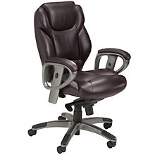 Mid-Back Leather Ergonomic Computer Chair, MAL-UL330M