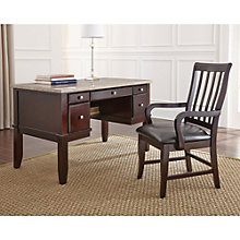 Monarch Marble Top Desk and Slat Back Chair, 8806991