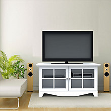 Pinnacle White TV Stand, MEG-100403
