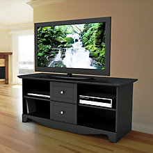 Pinnacle Black Finish Large TV Stand with Drawers, MEG-100806