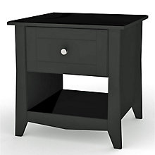 Tuxedo End Table with Black Finish, MEG-200806