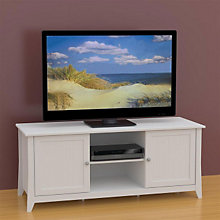 Vice Versa White TV Stand with Reversible Doors, MEG-202103