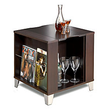 Espresso End Table with Serving Tray, MEG-410408