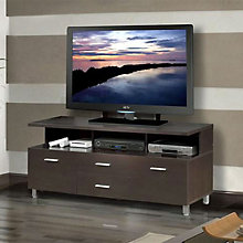 Espresso TV Stand with Media Drawers, MEG-430404