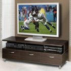 Espresso Widescreen TV Base with Black Accents, MEG-450404