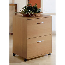 Natural Maple Two Drawer Mobile File, MEG-5093