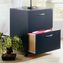 Black Two Drawer Mobile File, MEG-6093