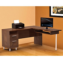 Truffle Finish L-Shape Work Station, MEG-721205