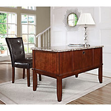 Montibello Marble Top Desk and Parsons Chair, 8806988