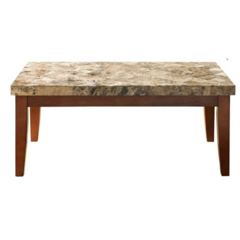 Montibello marble top rectangular coffee table for Marble top coffee table rectangle