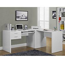 "Odell Two Drawer L-Desk- 71""W, 8802284"