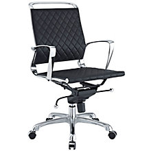 Vibe Mid-Back Modern Task Chair in Leather, MOW-10569