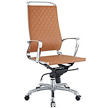 Vibe High Back Modern Task Chair in Leather, MOW-10570