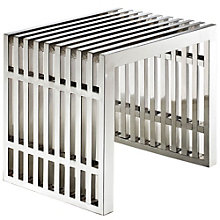 "Gridiron 19.5"" Stainless Steel Bench, MOW-10575"