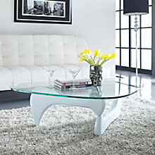 Tribeca Modern Glass Top Coffee Table, MOW-10580