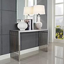 Gridiron Stainless Steel Console Table, MOW-10584