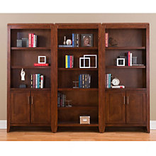 "Concord 15 Shelf Library Wall Bookcase Set - 74""H, MRN-01266"