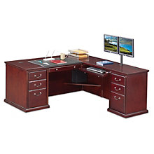 "Kathy Ireland Huntington Club L-Desk with Right Return - 68""W, 8805065"