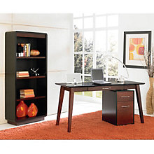 iNfinity 5' Writing Desk with Mobile File and Bookcase Set, OFG-DS0052