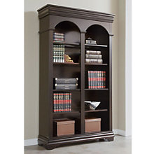 "Beaumont Arched Five Shelf Double Bookcase - 78""H, MRN-10279"