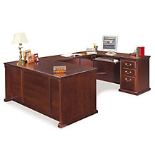 "Kathy Ireland Huntington Club U Desk with Right Return - 68.25""W, OFG-UD1054"