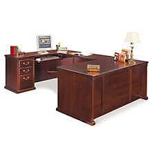 "Kathy Ireland Huntington Club U Desk with Left Return - 68.25""W, OFG-UD1070"