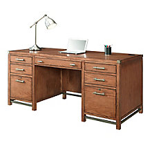 "Arcadia Double Pedestal Desk with Metal Accents - 64""W, 8804238"