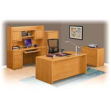 Contemporary Oak Executive Office Suite, 8805032