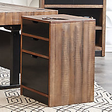 "Motus Two Tone Three Drawer Pedestal - 18.75""W, 8808032"