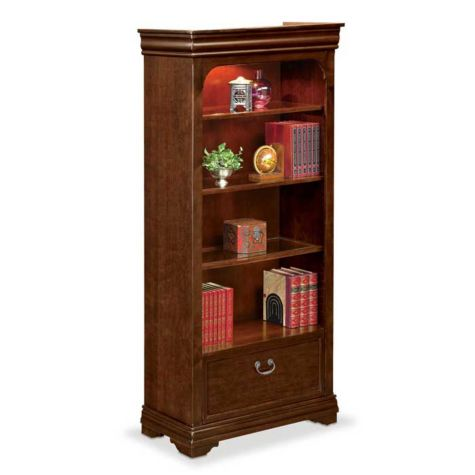 4 shelf open bookcase with file drawer by nbf Home decorators collection kelman 3 shelf bookcase in walnut
