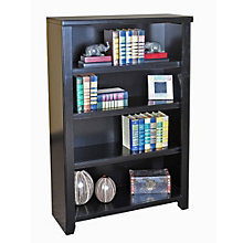 "Tribeca Loft Black Four Shelf Open Bookcase - 48"" H, MRN-10269"