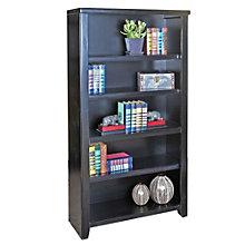 "Tribeca Loft Black Five Shelf Open Bookcase - 60"" H, MRN-10270"