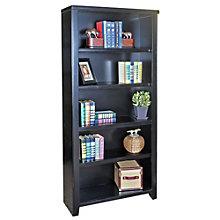 "Tribeca Loft Black Five Shelf Open Bookcase - 70"" H, MRN-10280"