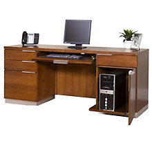 Monterey Computer Credenza With Drawers, 8801718